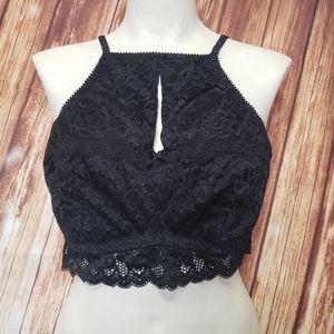 Deesse Black Lace Bra Bralette Plus Size Lingerie Boudoir Pin-Up Plus Size